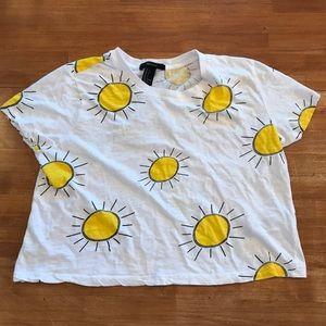 FOREVER 21 Sunshine Crop Top